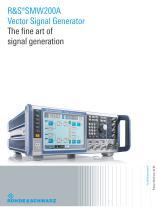 R&S®SMW200A Vector Signal Generator
