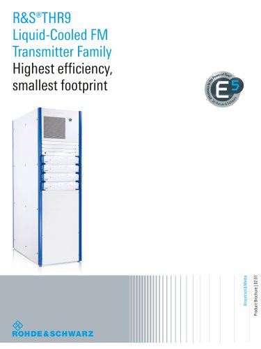 R&S®THR9 Liquid-Cooled FM Transmitter Family