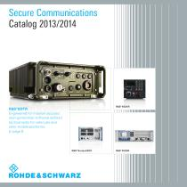 Secure Communications 2013/2014 (CD-ROM) Division 2 catalog -