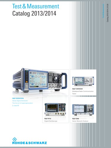 Test & Measurement Catalog 2013/2014