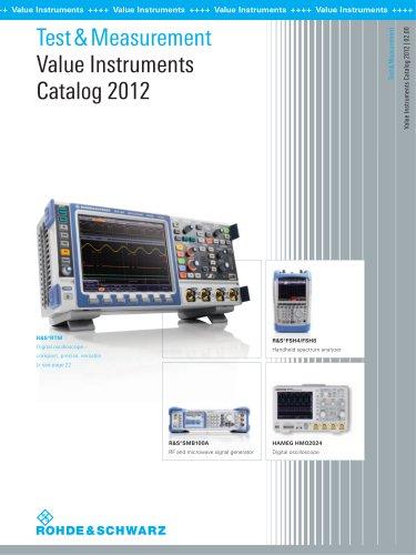 Test & Measurement Value Instruments Catalog 2012