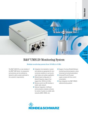 UMS120 Monitoring Syste