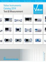 Value Instruments Catalog 2014 Test and Measurement