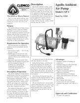 Apollo Ambient Air Pump Model CAP-1