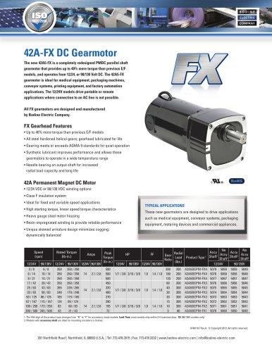 42A5-FX High-Performance PMDC Gearmotors 90/130 VDC or 12/24 VDC