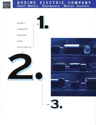 Bodine Gearmotors 1-2-3 Selection Guide