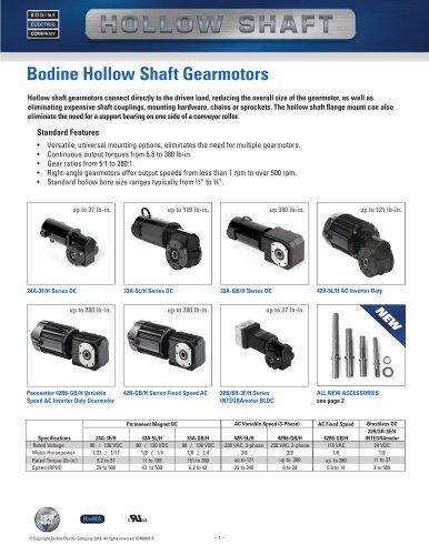 Bodine Hollow Shaft Gearmotors