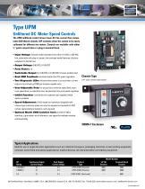 Type UPM - Unfiltered DC Motor Speed Controls