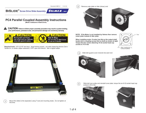 B SI LIDE Screw Drive Slide Assembly