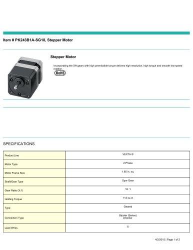 Item # PK243B1A-SG18, Stepper Motor