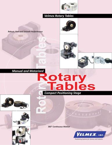 Velmex Rotary Tables Spec Overview