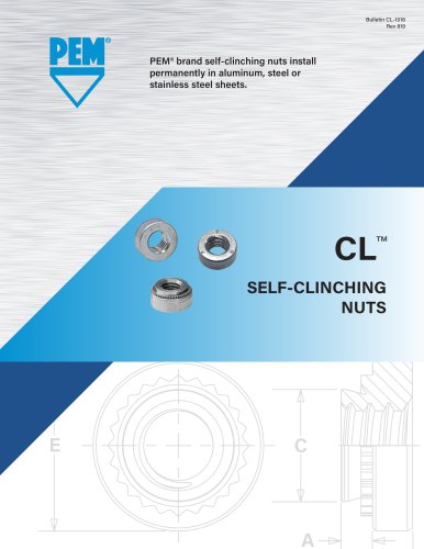 Pem Self-Clinching Nuts CLS-0616-3 Types S CLS SP SS CLSS Unified