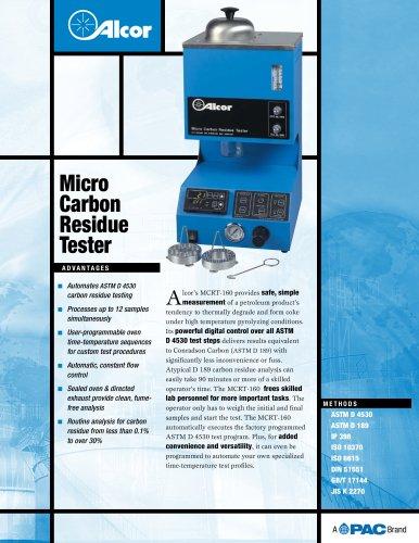MCRT160 - MICRO CARBON RESIDUE TESTER