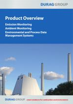DURAG GROUP Product Overview Emission Monitoring