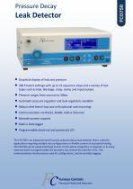 FCO750 - Pressure Decay Leak Detector