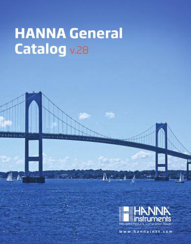 HANNA General Catalogv.28