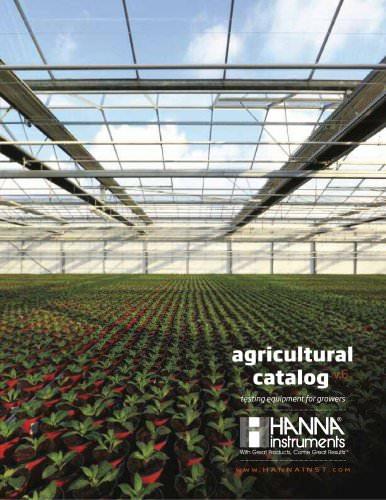 HANNA instruments Agricultural Catalog