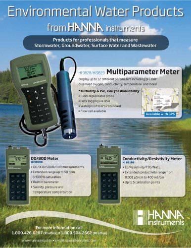 HANNA instruments Environmental Water Products
