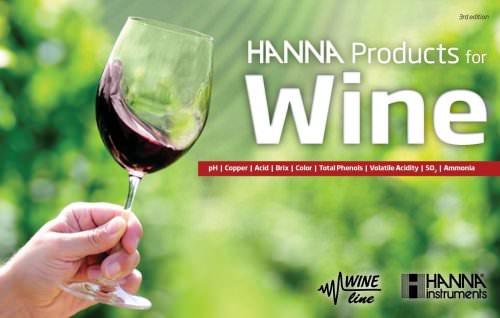 HANNA instruments Wine Testing Catalog