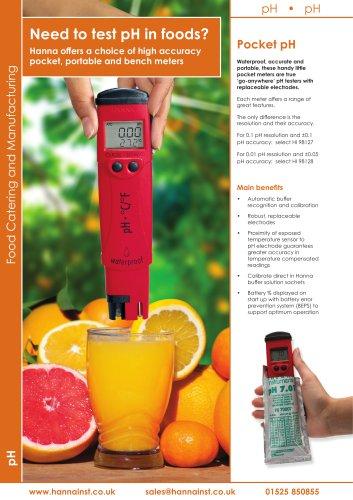 Pocket pHep4 Water Resistant pH Tester [HI-98127]