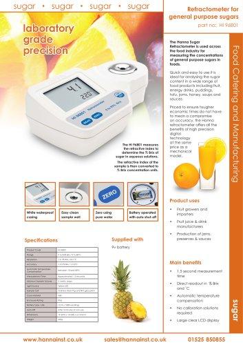 Refractometer General Purpose Sugars