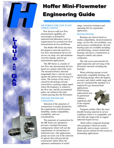 Mini Flowmeter Hoffer Flow Controls Pdf Catalogs Technical Documentation Brochure