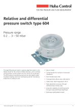 Mechanical Pressure Switch 604 0.2 ... 50 mbar