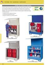 Stations for hazardous substances