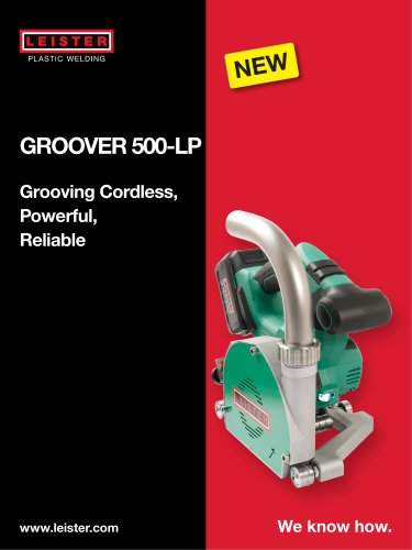 GROOVER 500-LP battery-operated grooving machine