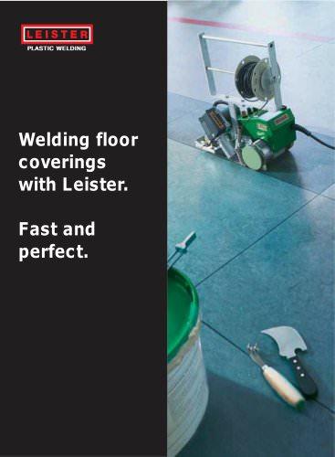 Welding floor coverings