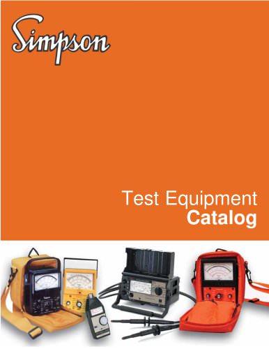 Test Equipment Catalog