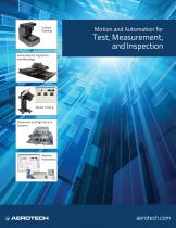 Motion and Automation for Test, Measurement and Inspection