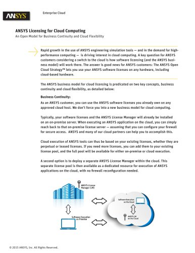 ANSYS Licensing for Cloud Computing