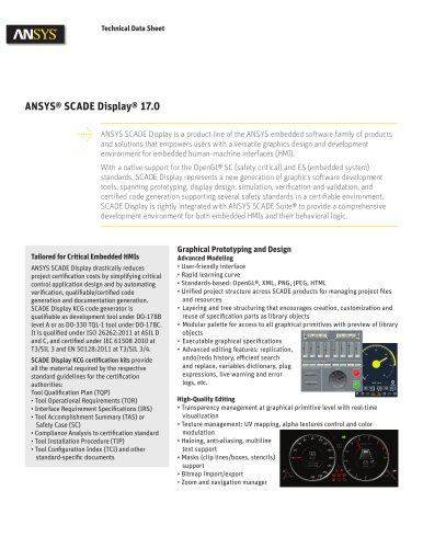 ANSYS® SCADE Display® 17.0