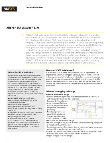 ANSYS® SCADE Suite® 17.0