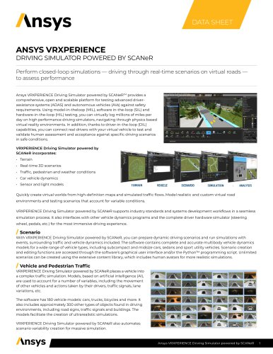 ANSYS VRXPERIENCE