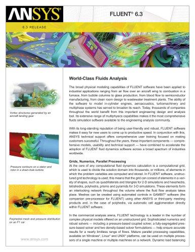 Fluent 6.3 - World Class Fluids Analysis