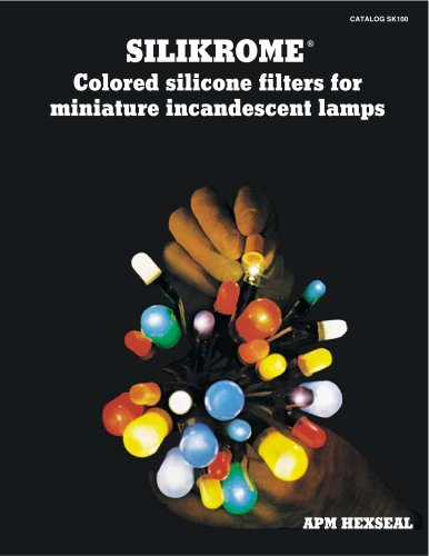 Colored Silicone Filters for miniature incandescent lights