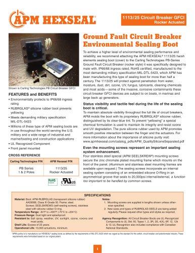 GFCI Circuit Breaker Sealing Boots