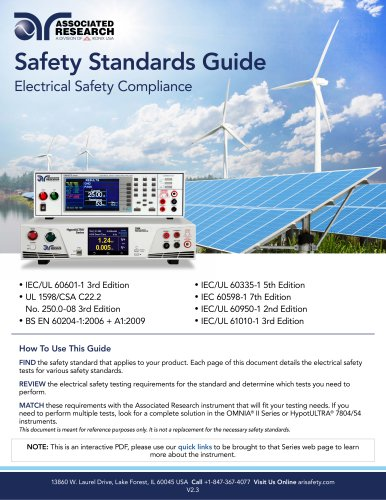 Safety Standards Guide