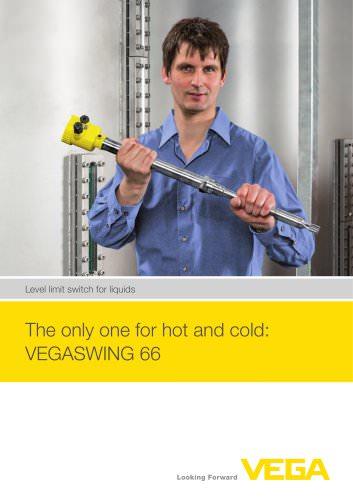 Level limit switch for liquids: VEGASWING 66