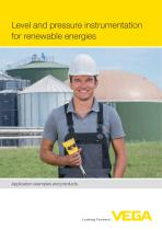 Level and pressure instrumentation for renewable energies