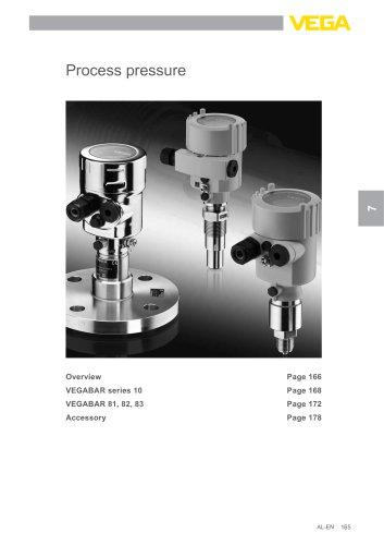 Product catalogue: Process pressure VEGABAR (Pressure)