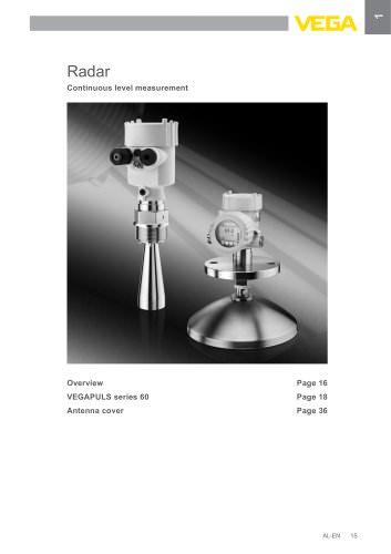 Product catalogue: Radar VEGAPULS (Level)