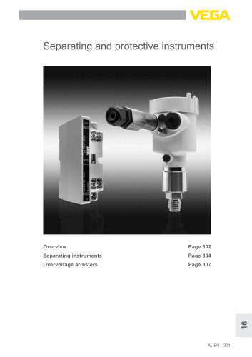 Product catalogue: Separating and protective instruments  (Signal conditioning)