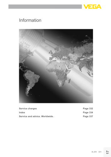 Product catalogue: Service information
