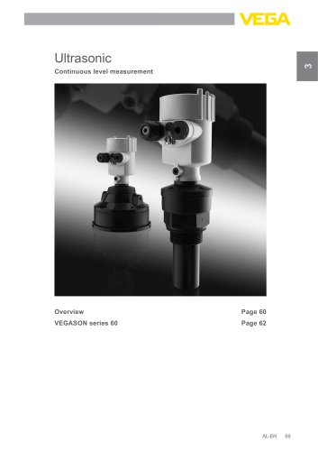 Product catalogue: Ultrasonic VEGASON (Level)