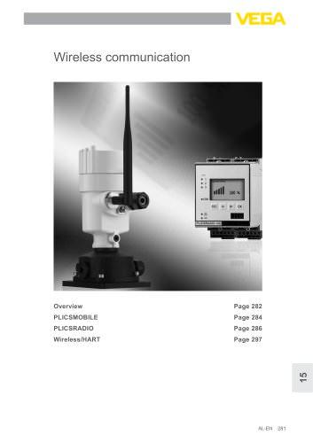Product catalogue: Wireless communication PLICSMOBILE, PLICSRADIO  (Signal conditioning)