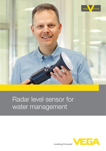 Radar level sensor for water management