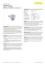 Specification sheet VEGAPULS C 22